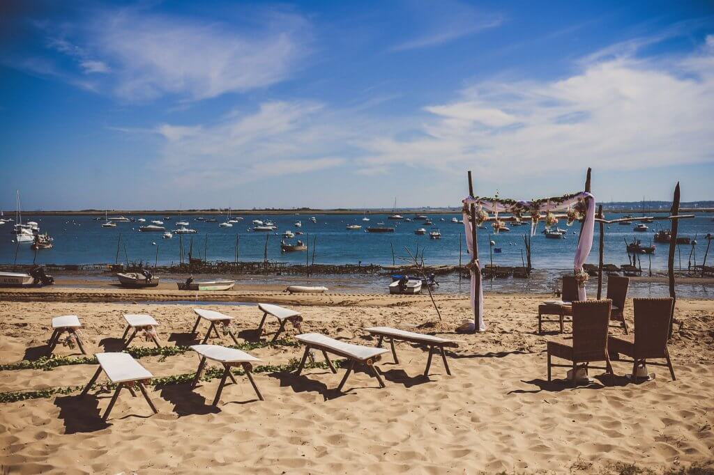 cérémonie d'engagement au Cap Ferret sur la plage