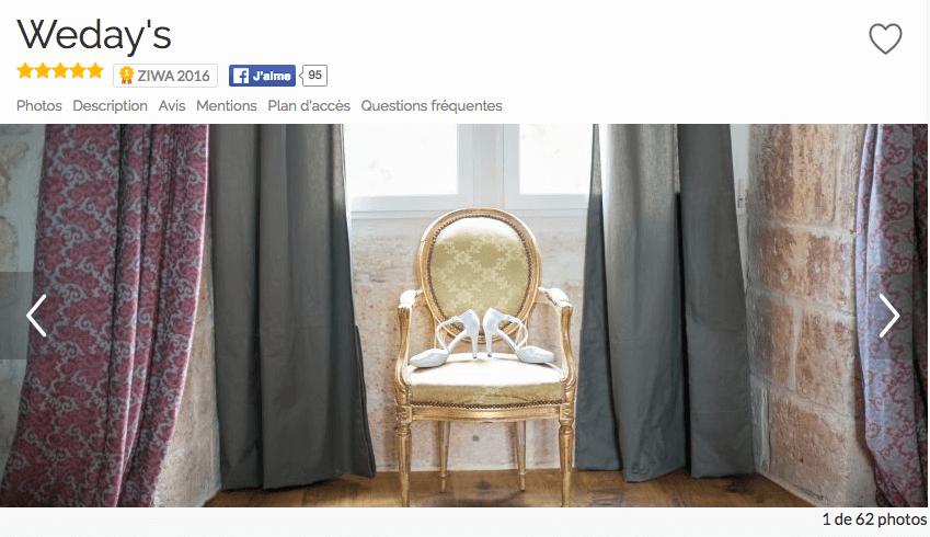 Recommandé par Zankyou, le portail n°1 de site de mariages