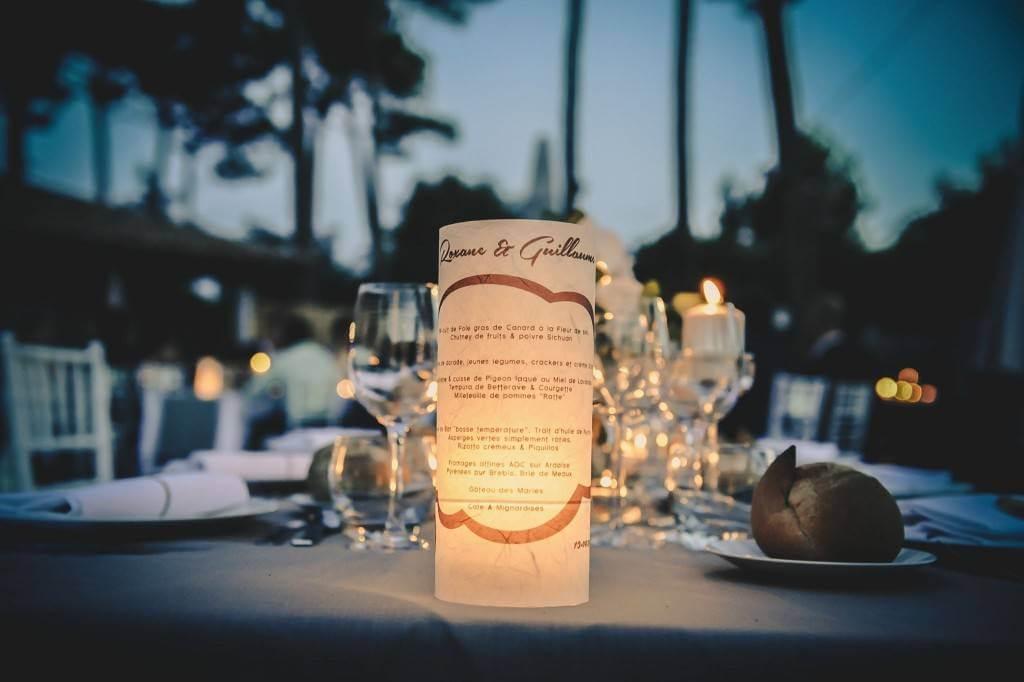 mariage de nuit à Cap Golf