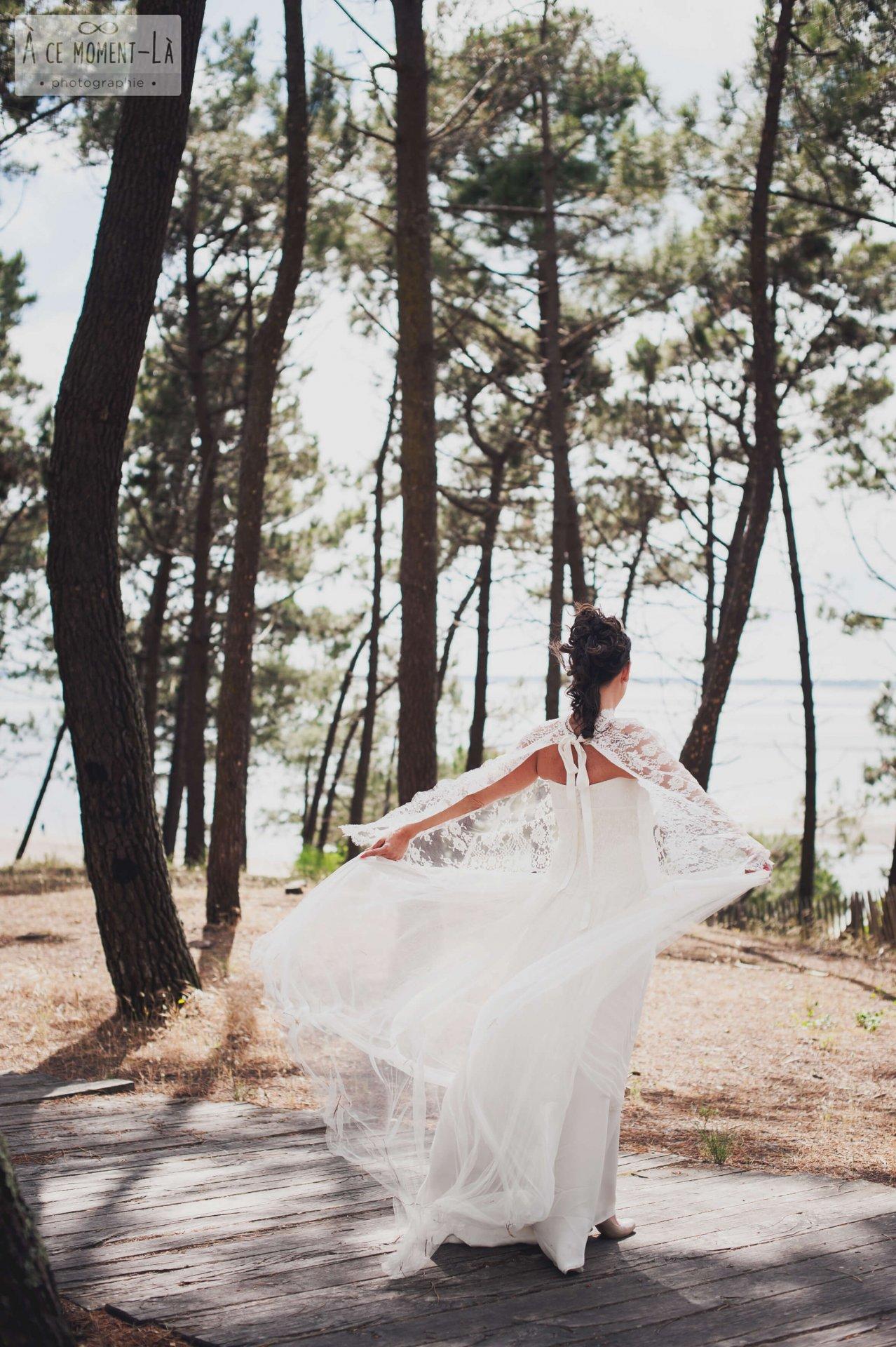 Mariage poétique au milieu des pins sur le Bassin d'Arcachon