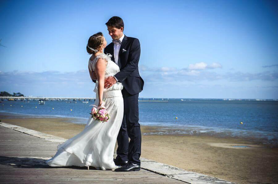 wedding dans une cabane ostréicole à Arcachon