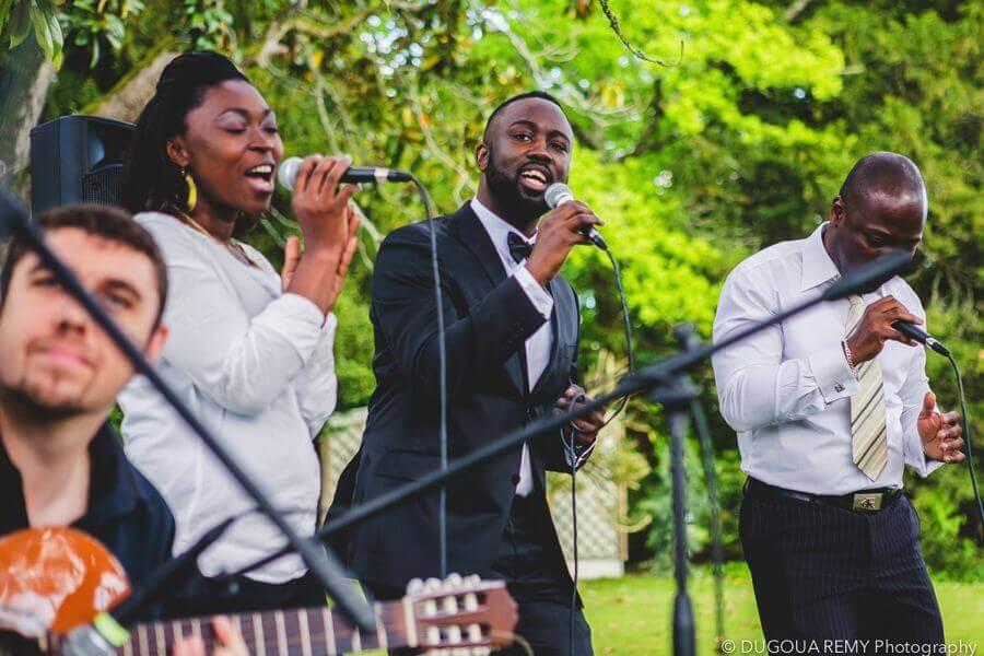 groupe de Gospel in outdoor
