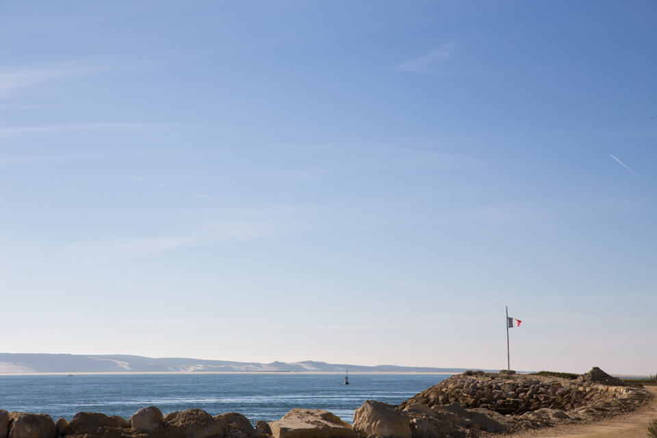 Magnifique point de vue sur la mer, à la pointe du Cap Ferret