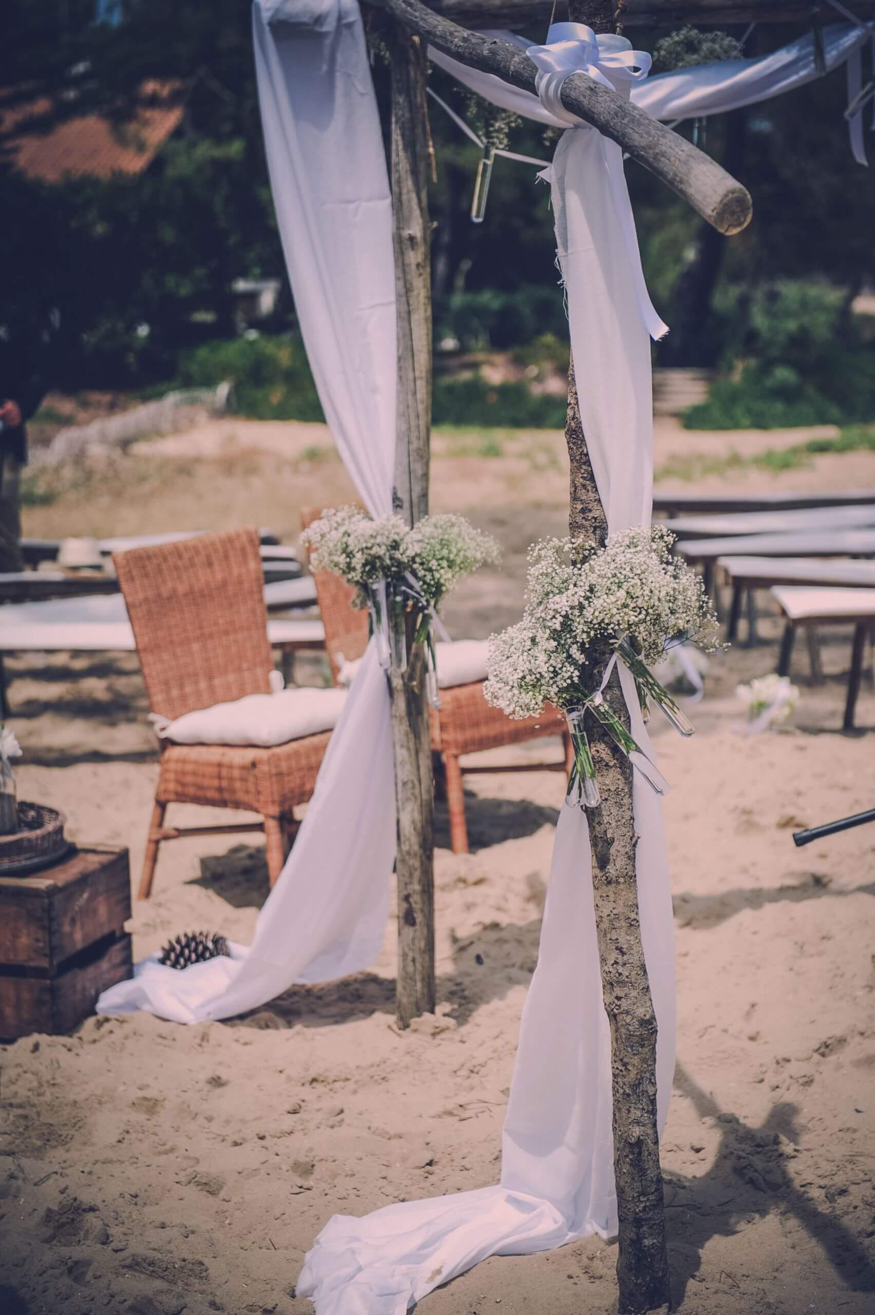ceremonie laique les pieds dans le sable au Cap Ferret