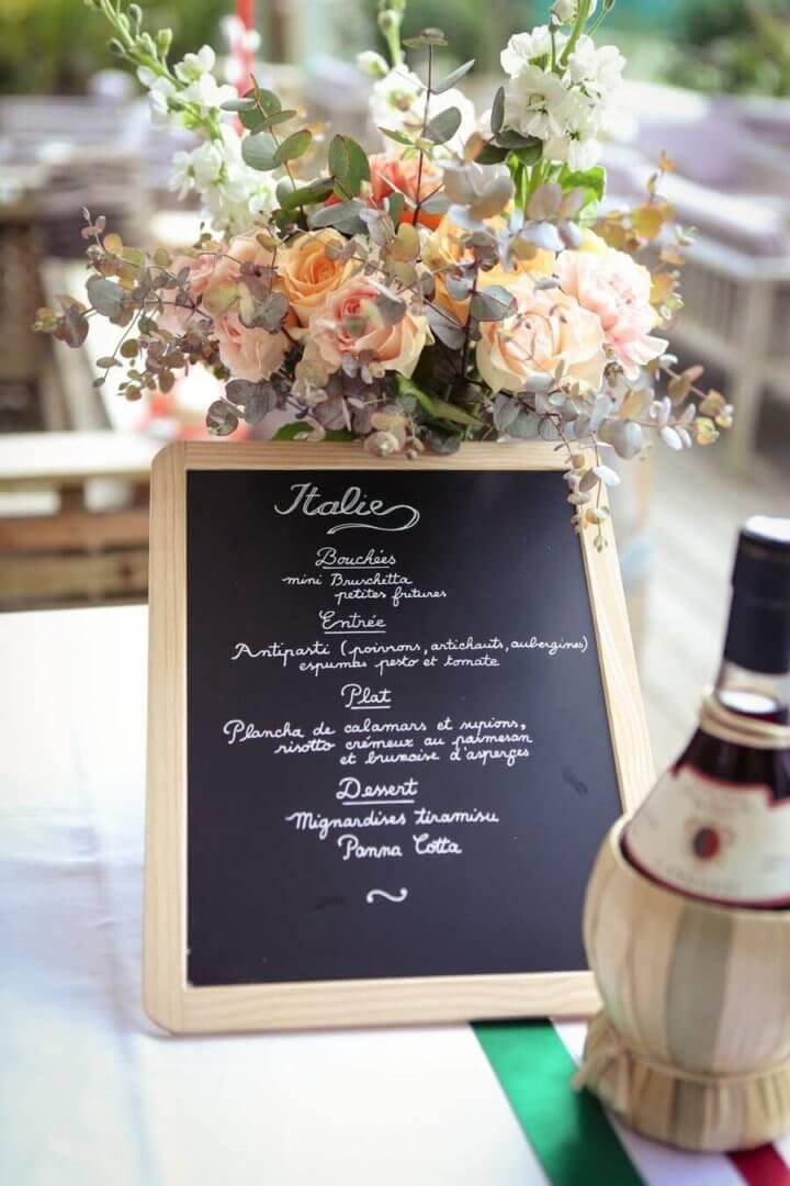 Menu et charte graphique, un joli ensemble pour l'art de la table de votre mariage