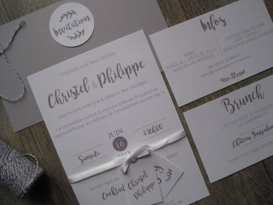 Le faire-part de mariage donne le ton du mariage et définit votre charte graphique le jour J