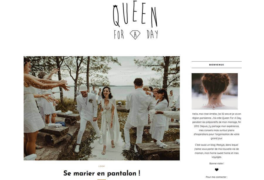 Queen for a day, une jolie publication de real Wedding à la cabane Bartherotte au Cap Ferret