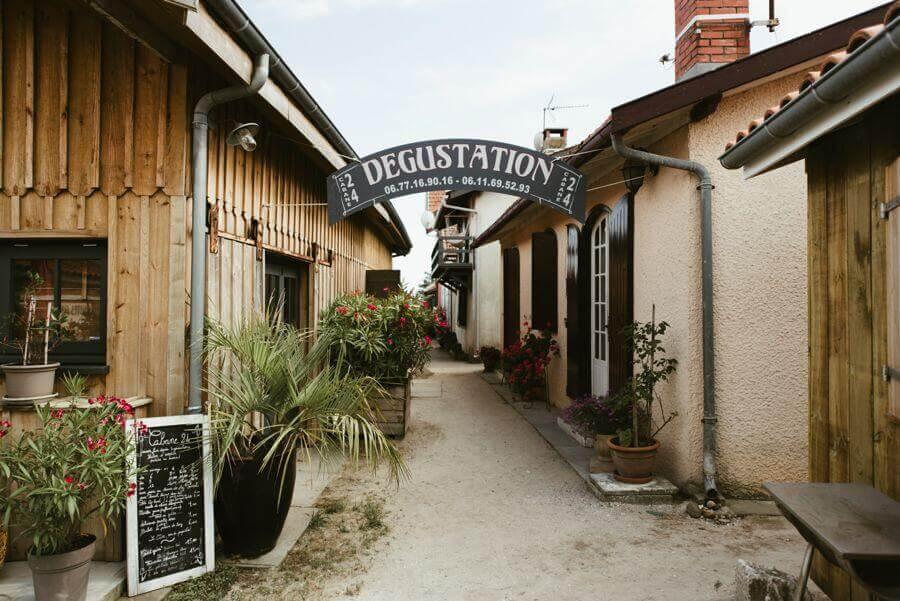 Cabane à huitres pour dégustation au Cap ferret, idée coktail ou Brunch pour mariage
