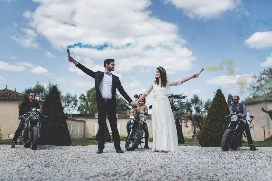 Des motos pour le mariage by Weday's