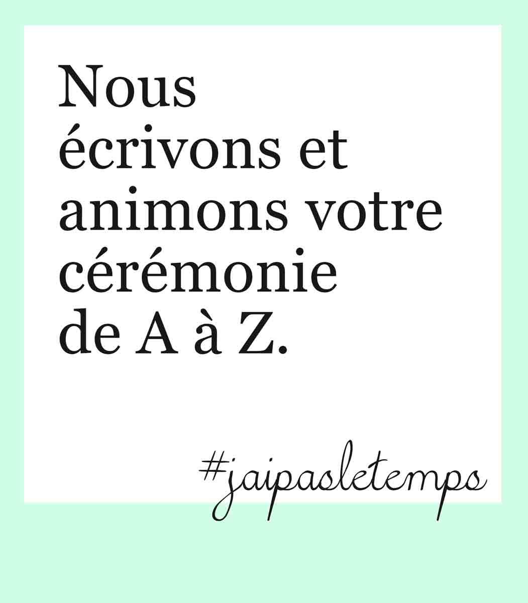 prestataire cérémonie laïque en Aquitaine - Wedays s'occupe de votre cérémonie de A à Z